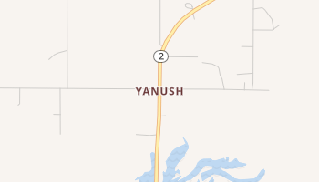 Yanush, Oklahoma map