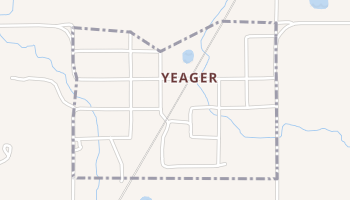Yeager, Oklahoma map