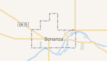 Bonanza, Oregon map