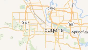 Eugene, Oregon map