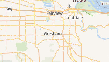 Gresham, Oregon map
