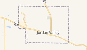 Jordan Valley, Oregon map