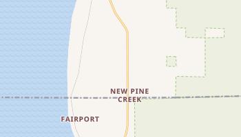 New Pine Creek, Oregon map