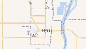 Nyssa, Oregon map