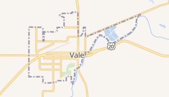 Vale, Oregon map