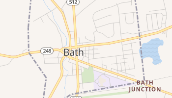 Bath, Pennsylvania map