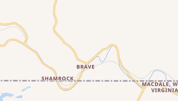 Brave, Pennsylvania map