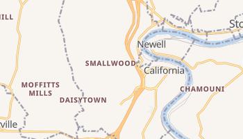 California, Pennsylvania map