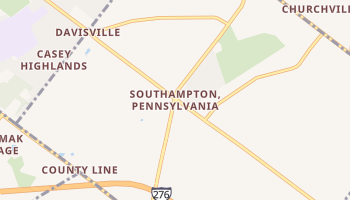 Southampton, Pennsylvania map