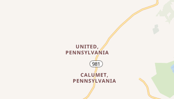 United, Pennsylvania map
