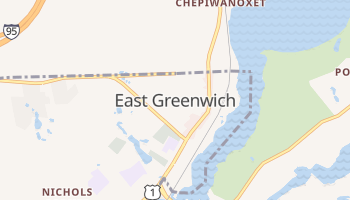 East Greenwich, Rhode Island map