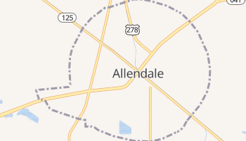 Allendale, South Carolina map