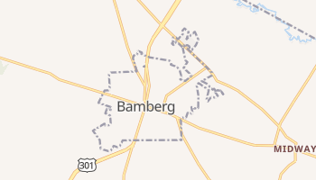 Bamberg, South Carolina map
