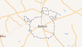 Belton, South Carolina map
