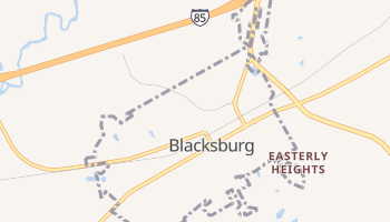 Blacksburg, South Carolina map
