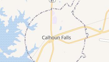 Calhoun Falls, South Carolina map