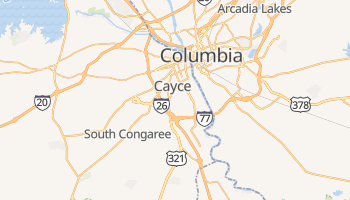 Cayce, South Carolina map