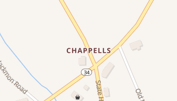 Chappells, South Carolina map