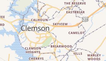 Clemson, South Carolina map
