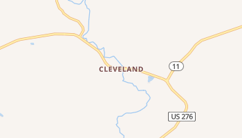 Cleveland, South Carolina map