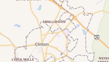 Clinton, South Carolina map
