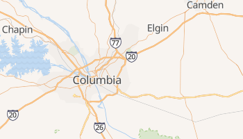 Columbia, South Carolina map