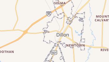 Dillon, South Carolina map
