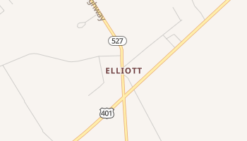 Elliott, South Carolina map