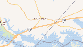 Fair Play, South Carolina map