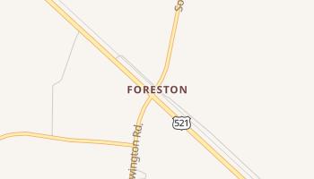 Foreston, South Carolina map