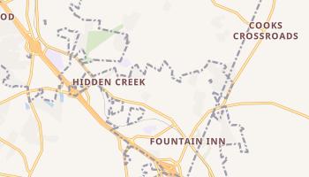 Fountain Inn, South Carolina map