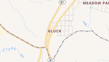 Gluck, South Carolina map