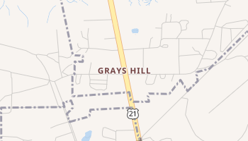 Grays Hill, South Carolina map
