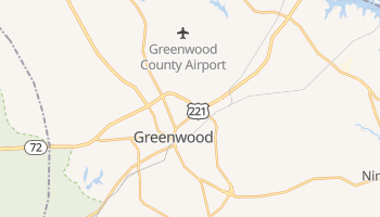 Greenwood, South Carolina map