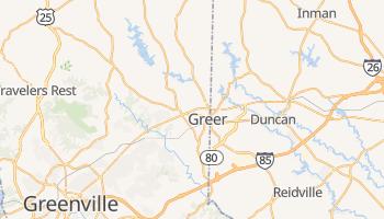 Greer, South Carolina map