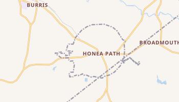 Honea Path, South Carolina map