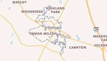Inman, South Carolina map