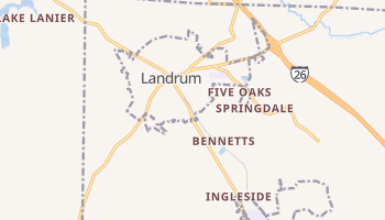 Landrum, South Carolina map