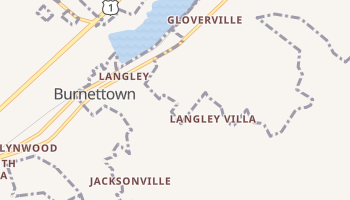 Langley, South Carolina map