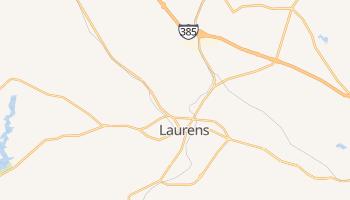Laurens, South Carolina map