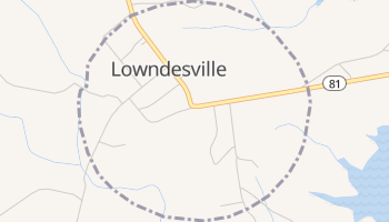 Lowndesville, South Carolina map