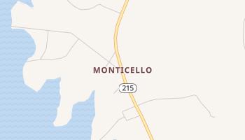 Monticello, South Carolina map