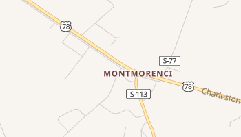 Montmorenci, South Carolina map