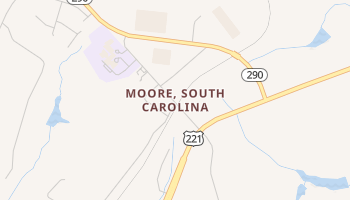 Moore, South Carolina map