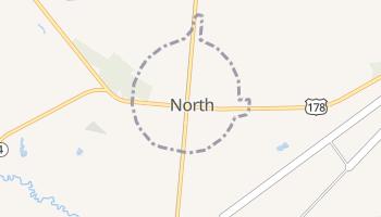 North, South Carolina map