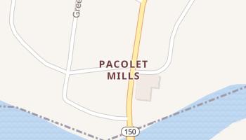 Pacolet Mills, South Carolina map