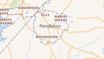 Pendleton, South Carolina map