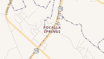 Pocalla Springs, South Carolina map
