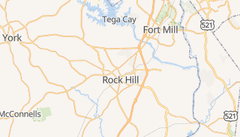 Rock Hill, South Carolina map