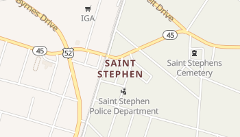 Saint Stephen, South Carolina map